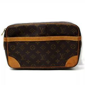 Louis Vuitton Compiegne 28 Mono Clutch Authentic